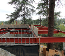House in Trees steelwork